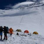 Camp 2 of Cho Oyu at 7100m.